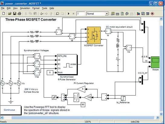 Преобразователь трехфазного напряжения для питания однофазного стабилизатора c PI-регулятором тока