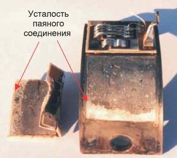 34-мм модуль IGBT с отслоившейся DBC-подложкой