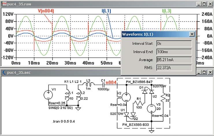 Упрощенная модель ИСТ срезонансным конденсатором