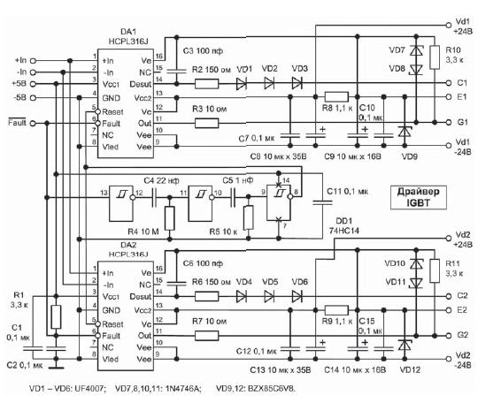 Драйверы силовых транзисторов