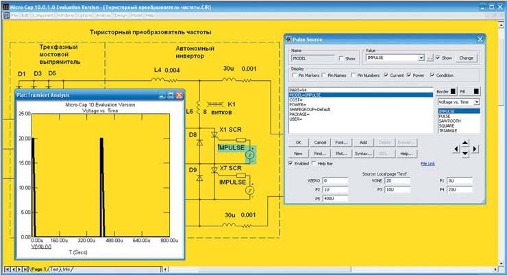 Моделирование системы управления автономным инвертором