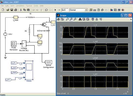 Диаграмма модели ключа на n-канальном JGBT