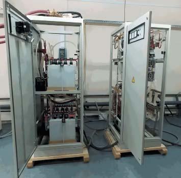 Блок конденсаторов установки ИНТ-400-1,0