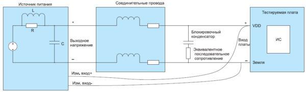 Соединительные провода с блокировочным конденсатором
