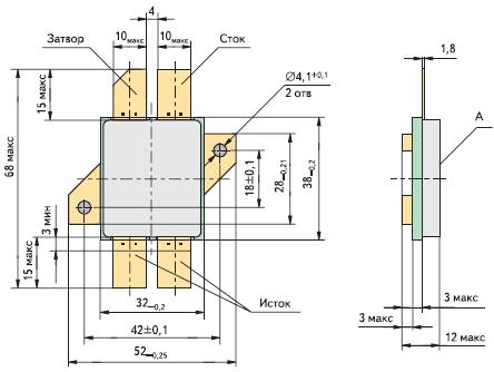 Рис. 3. Полевые транзисторы 2П7154АС, 2П7154БС, 2П7154ВС