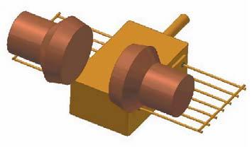 Расположение электродов-роликов на герметизируемом корпусе