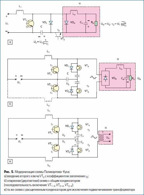 Модернизация схемы Поликарпова-Кука
