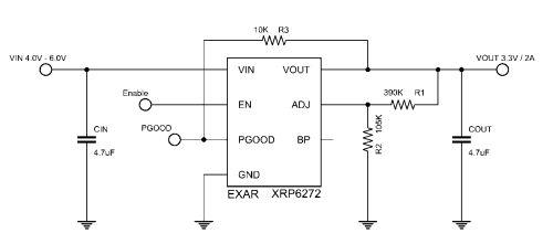 Низковольтный LDO от Exar с нагрузкой до 2 А