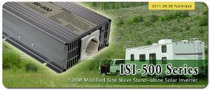 Инвертор ISI-500 на 500 Вт c модифицированной синусоидой и возможностью подключения солнечных батарей