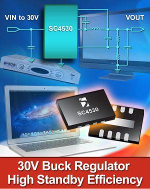 Понижающий стабилизатор SC4530 от Semtech для слаботочных источников питания