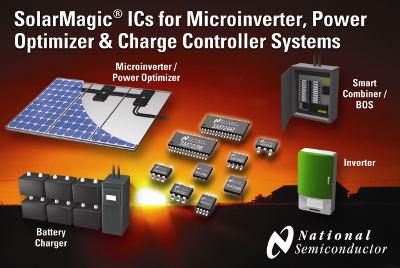 Новые интегральные схемы SolarMagic для микроинверторов, систем оптимизации мощности и контроллеров заряда аккумуляторных батарей