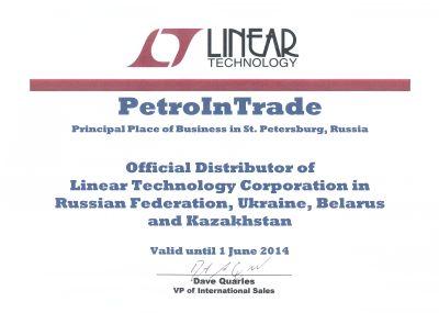 PT Electronics — дистрибьютор Linear Technology Corporation
