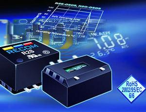 Компания RECOM представила компактные DC/DC-преобразователи для SMT-монтажа