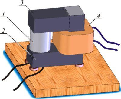 Устройство для снятия характеристики R  (B) магниторезистивности стержней-обмоток