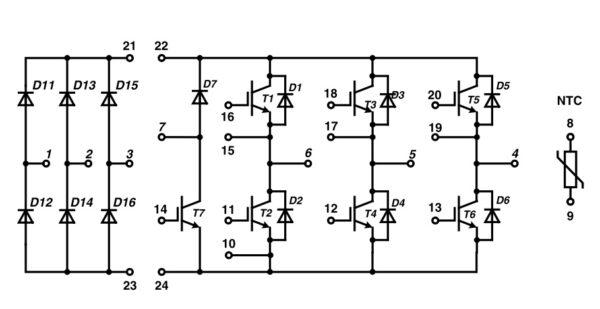 Структура модуля MIXA30WB1200TED